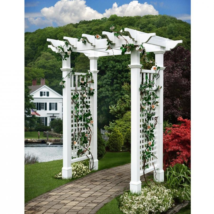 New England Arbors Fairfield II 7-ft. Vinyl Pergola Arbor