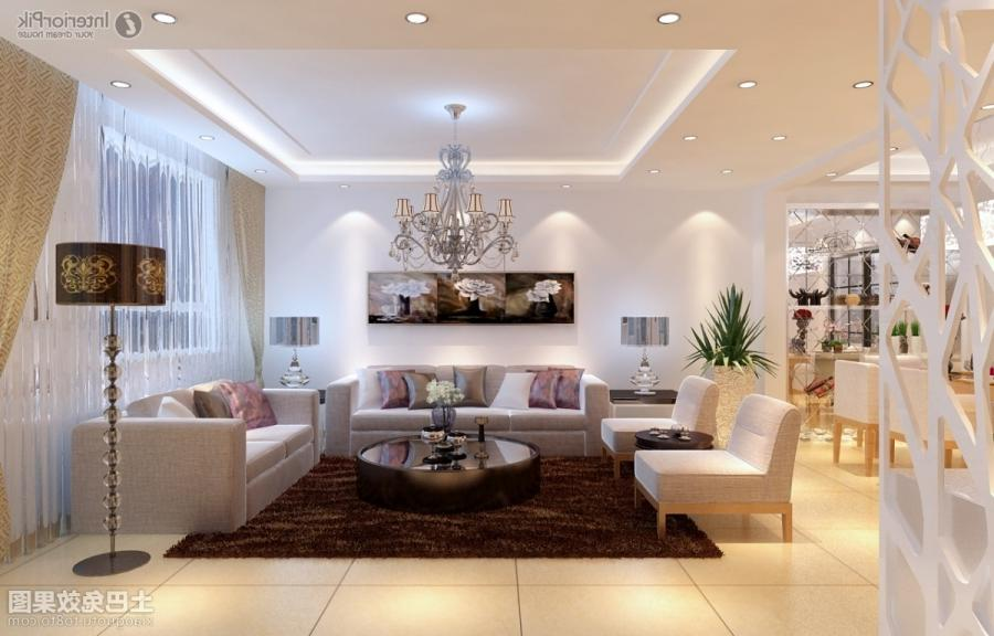 Ceiling decoration modern home living room effect chart...