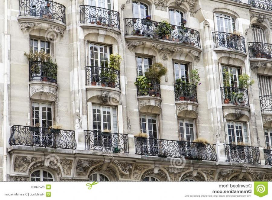 Typical parisian architecture with balcony