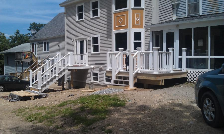 Front Porch Deck is almost complete