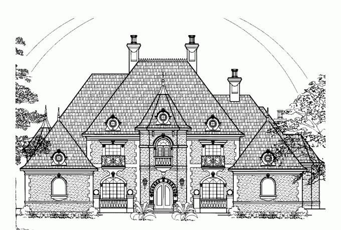 Chateau house plans photos