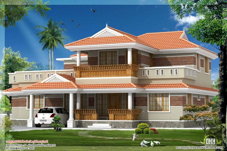 Kerala model house elevation photos for Kerala new model house