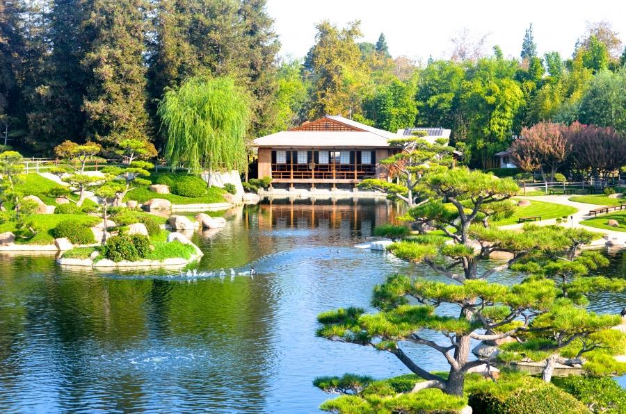 Japanese Garden Lake Balboa. LA Parks Gardens The Three Tomatoes. Japanese Garden Tillman Water ...