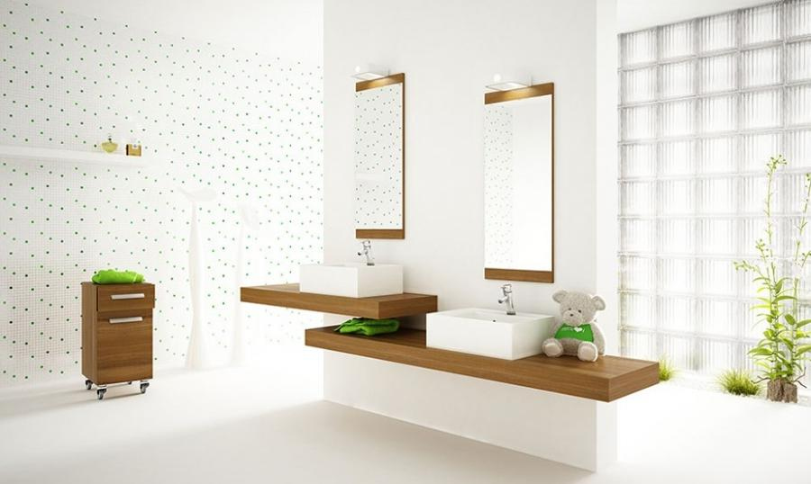 White Bathrooms Contemporary White Bathroom Decor With Plants...