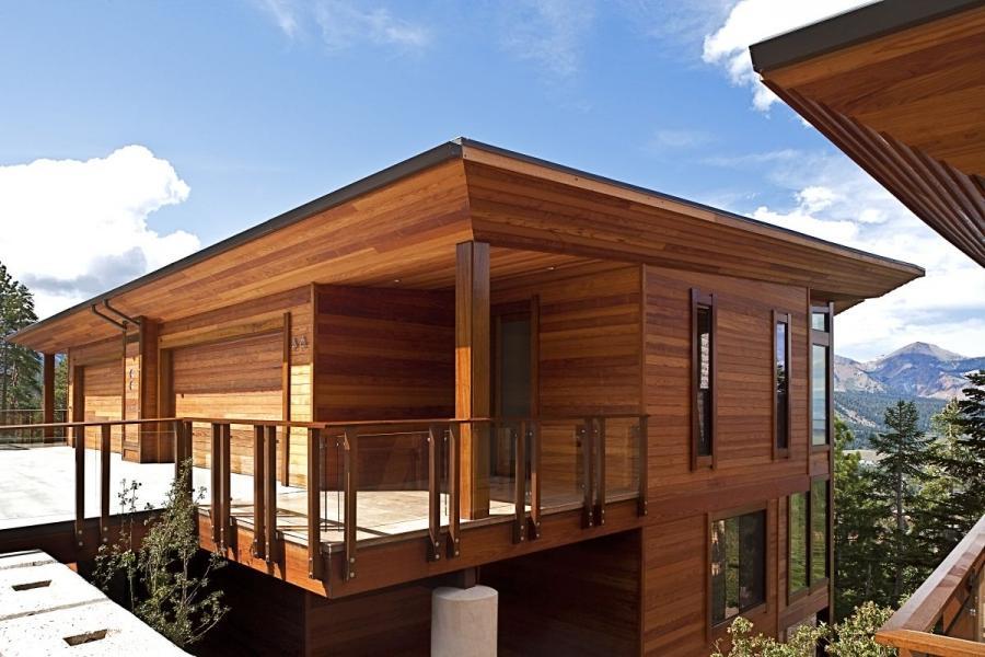 Cedar house plans with photos for Cedar siding house plans