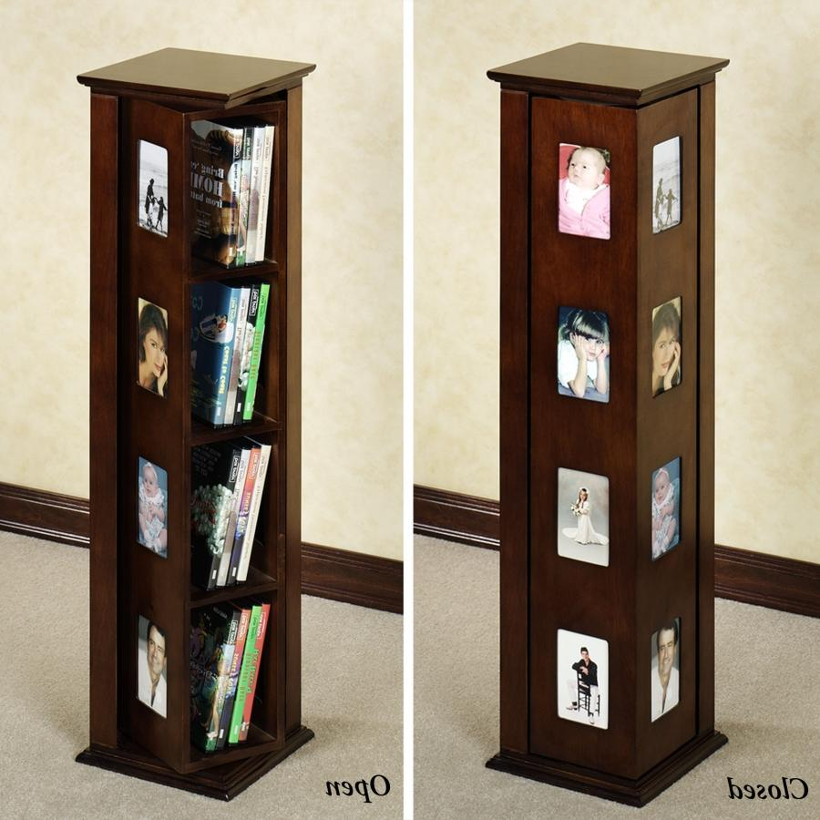 Cd Dvd Media Storage Tower Cabinet Stand Photo Frame