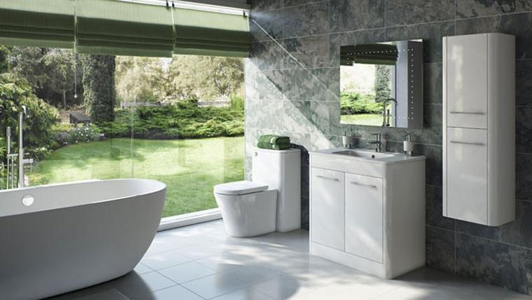 MFI Sky White Bathroom Furniture