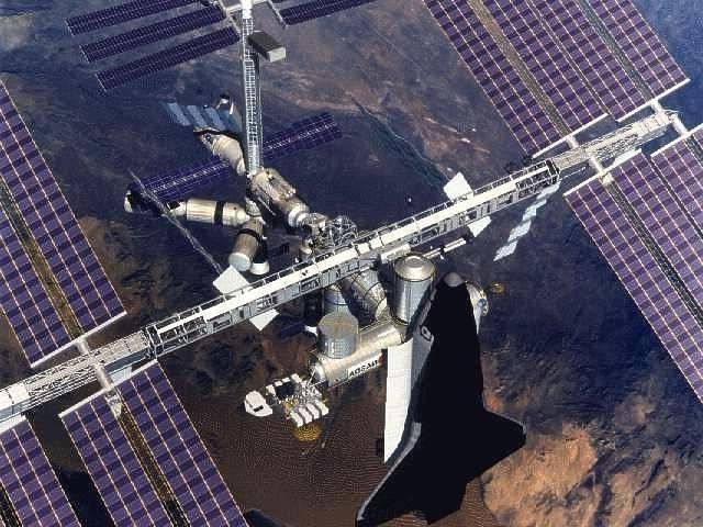 International space station interior photos