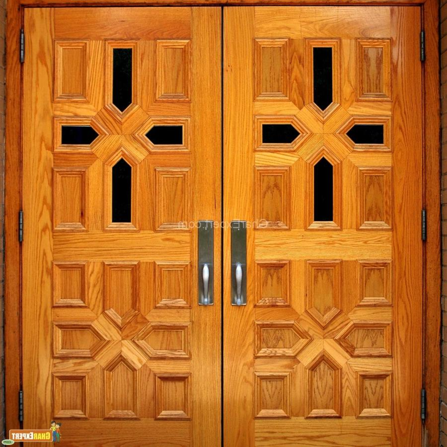 Door designs photos in india for Wooden window design with glass