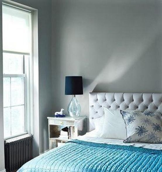 Blue silver bedroom photos for Cuarto azul con gris