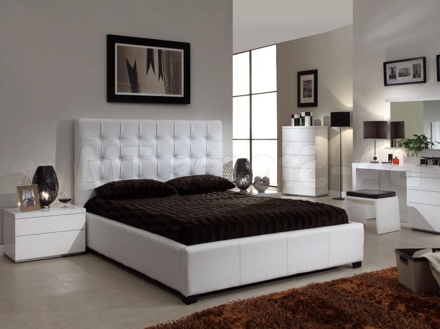 Masaculine Black White Bedroom Interior Design With