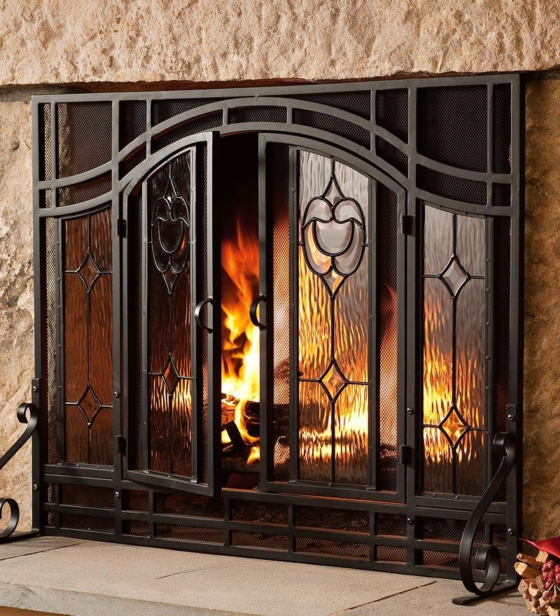 Fireplace screen photo for Building an indoor fireplace