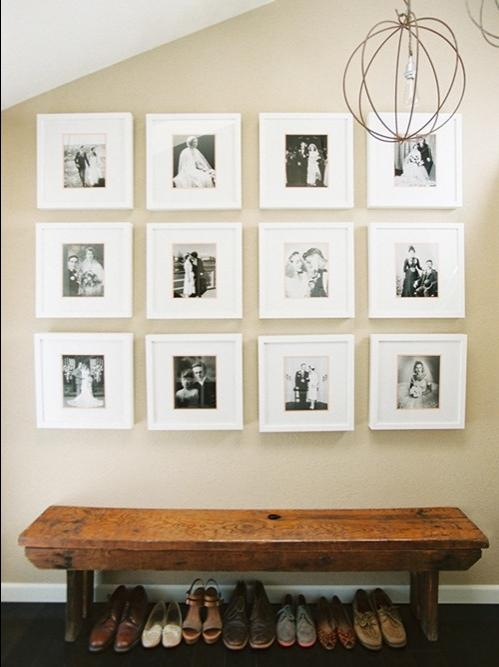displaying family photographs