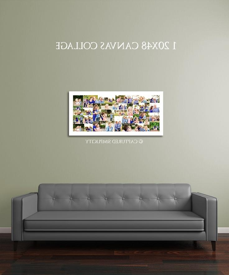wall collage printed on 20x48 large canvas gallery wrap family...