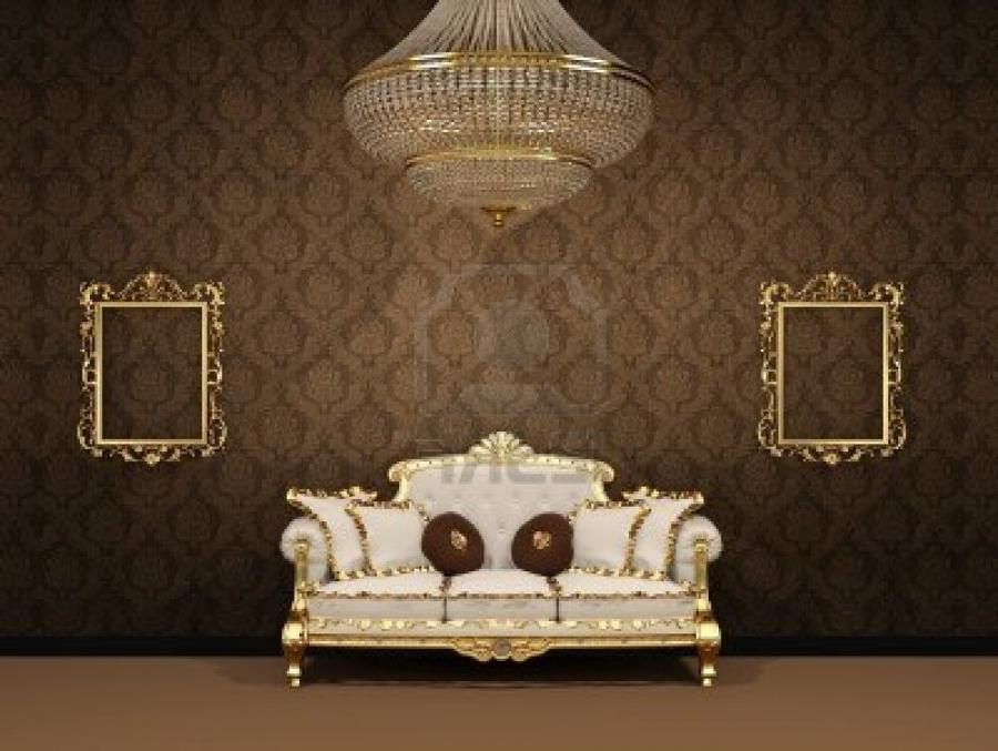 Royal Luxury Interior Space Apartment Royalty Free Stock