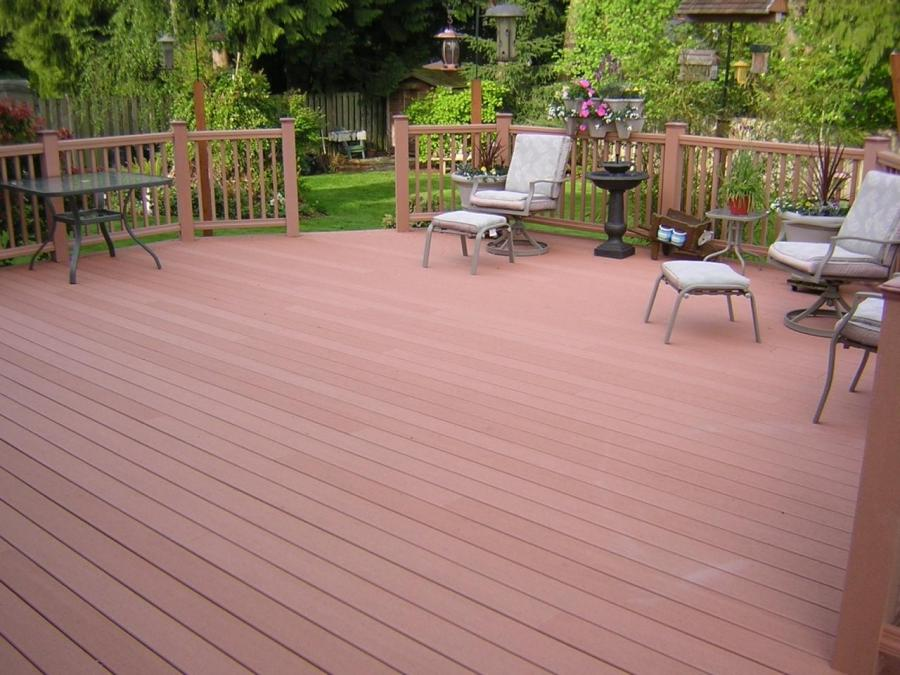 new deck, new decking, synthetic deck, composite deck, beautiful...
