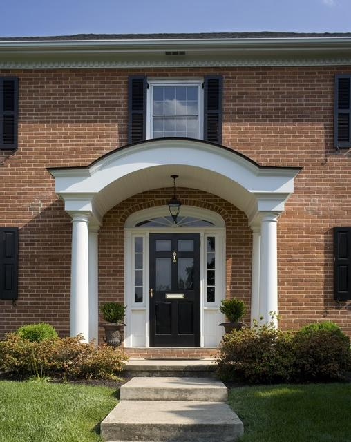House portico photos for Front door arch design
