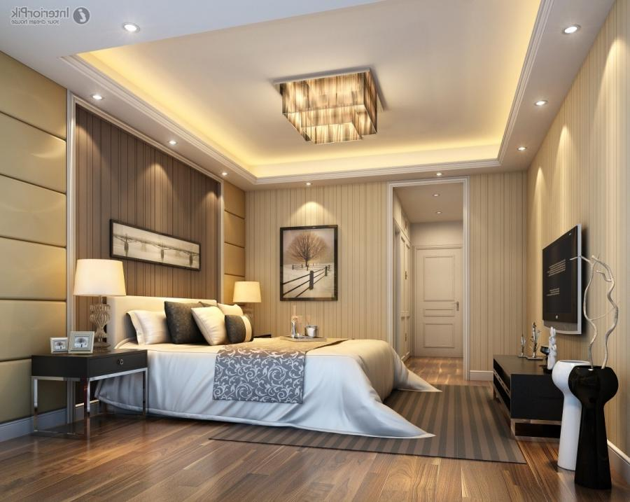 modern master bedroom ceiling design ideas with wooden floor...