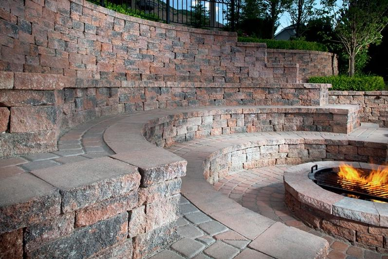 Paver and Stone Outdoor Fire Pits