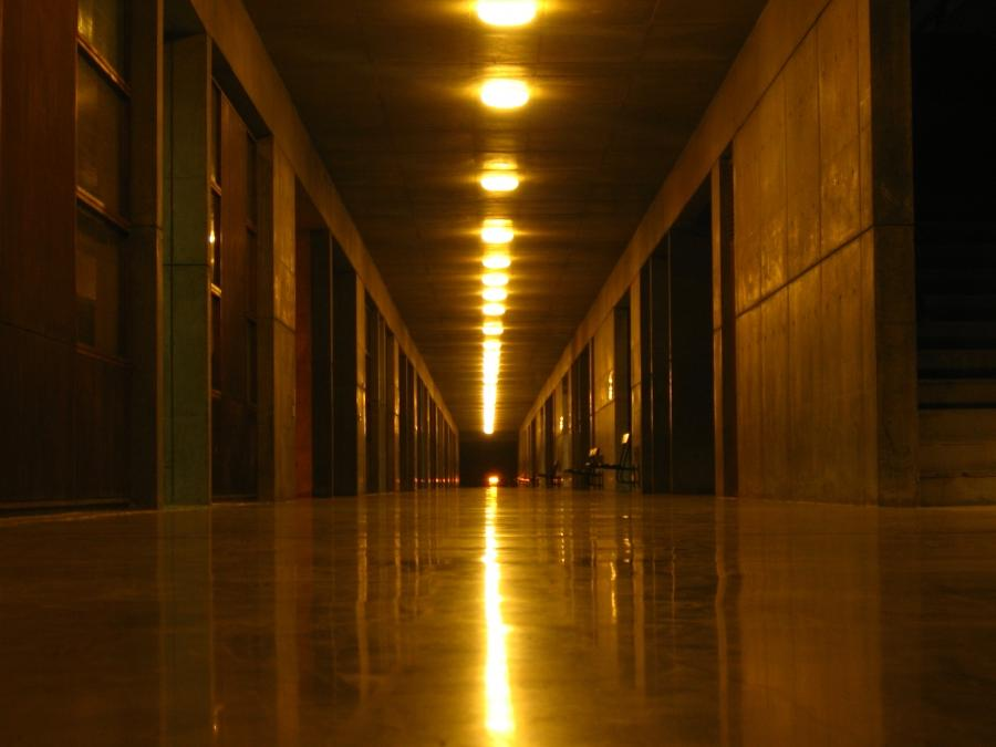 File:Corridor in new campus classroom block.JPG
