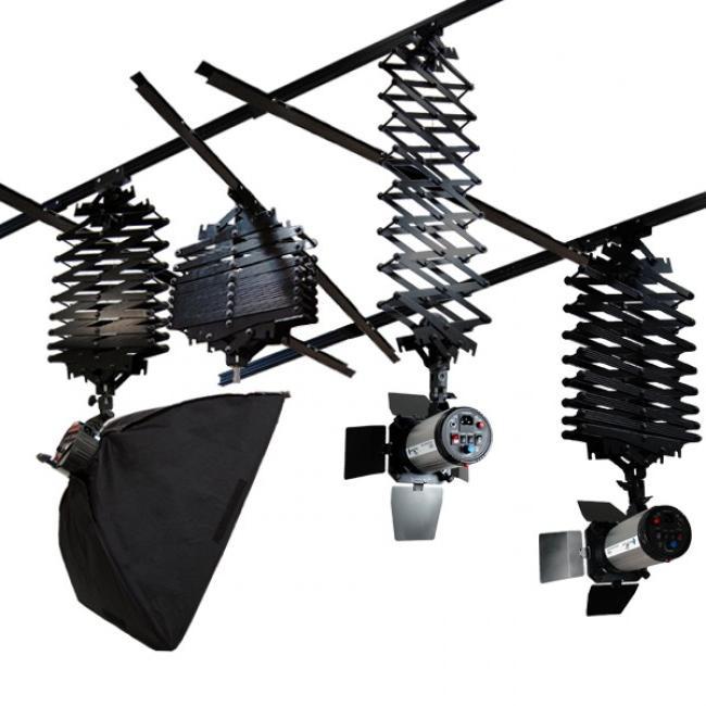 Studio Lighting Rail System: Ceiling Mount Photography Light