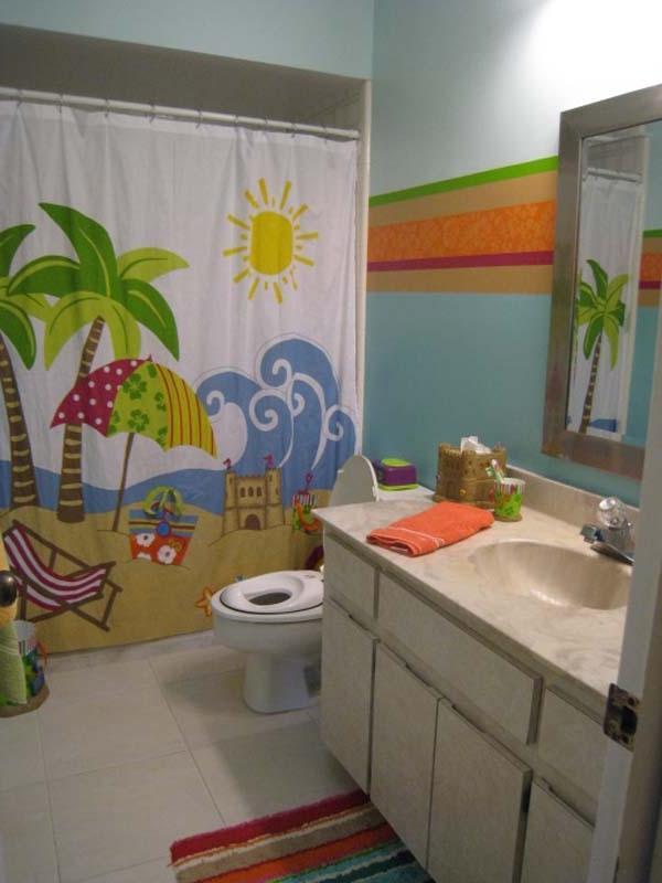 Ocean theme bathroom photos for Ocean bathroom ideas