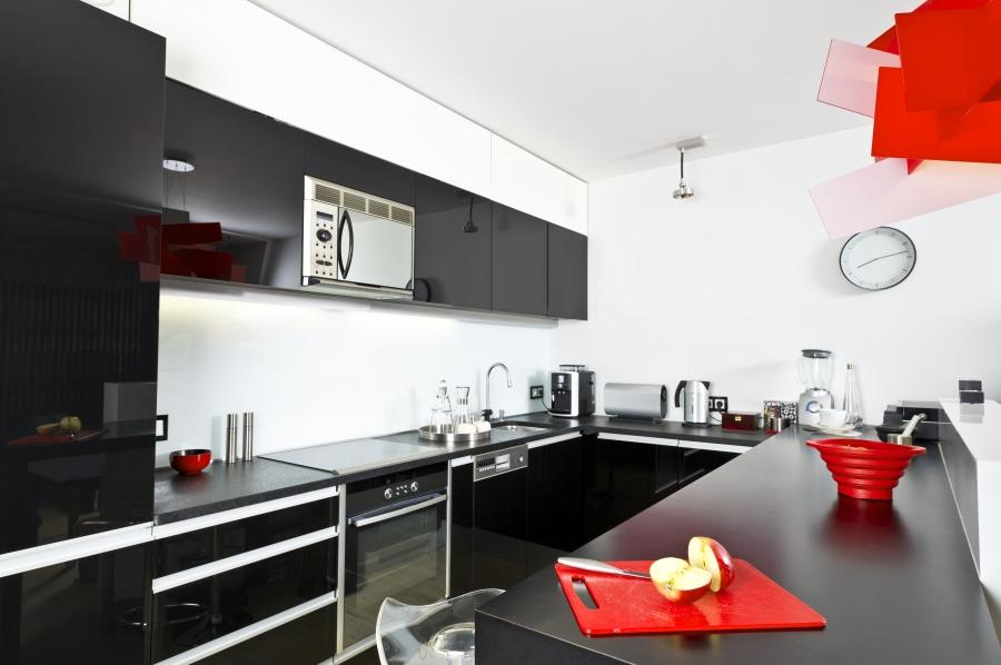 Model Style Kitchen Red And Wite : Red Black And White Kitchen Design Gio By Cesar  Black Models Picture