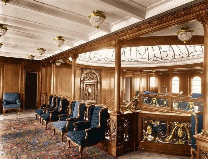 Титаник интерьер в цвете