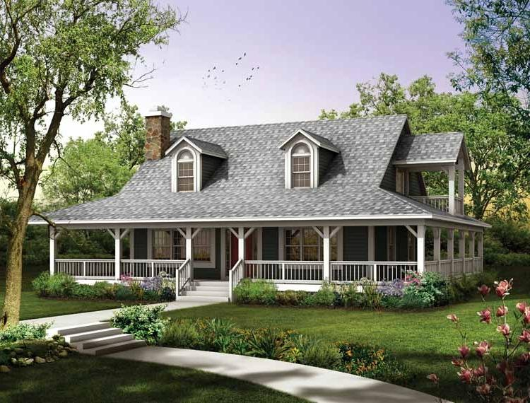 Ranch house porch photo for Ranch house plans with wrap around porch
