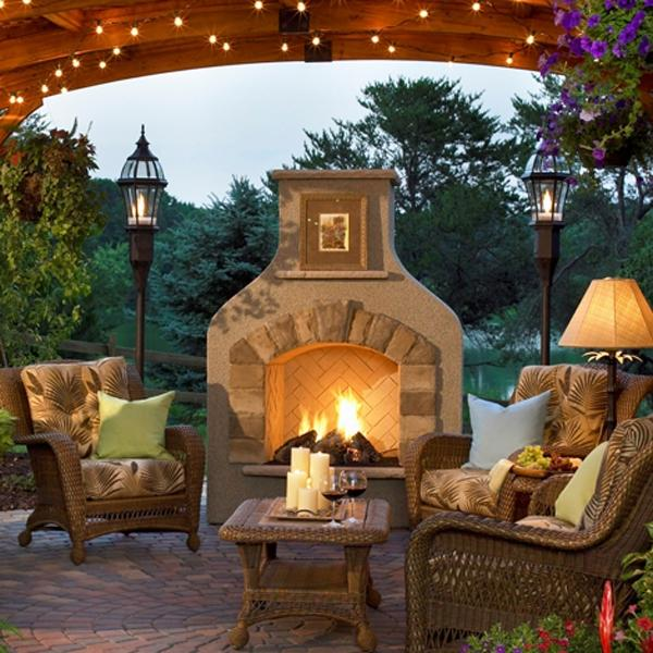Outdoor Rooms Photos With Fireplaces