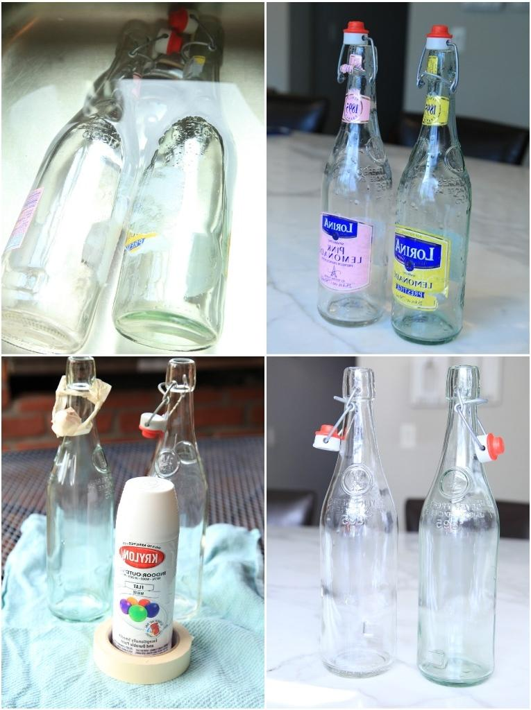 Photos on glass diy for Glass bottle display ideas