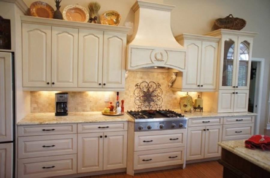 Kitchen, Terrific Kitchen Cabinet Refinishing With Gray Counter...