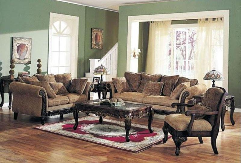 Chenille Fabric Classic Living Room Sofa w/Options