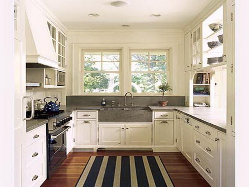 small galley kitchen remodel white color