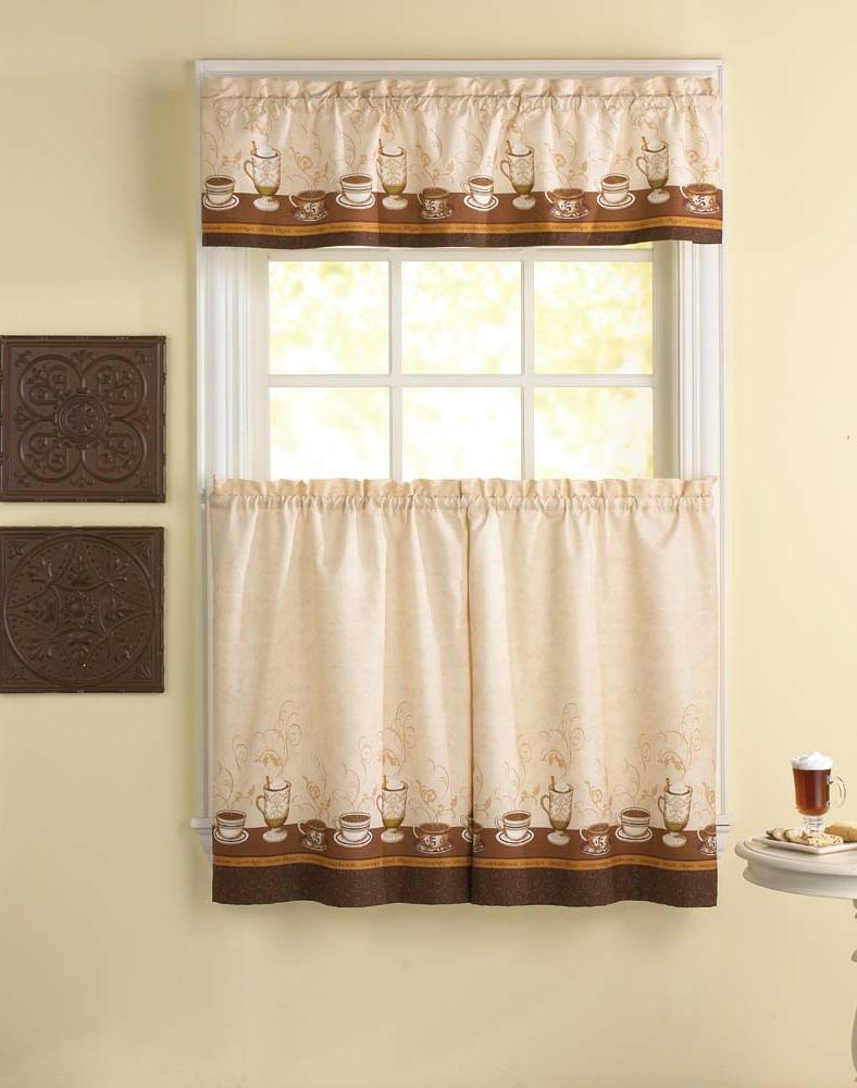 Cafe au lait kitchen curtain tier and valance price 9 99