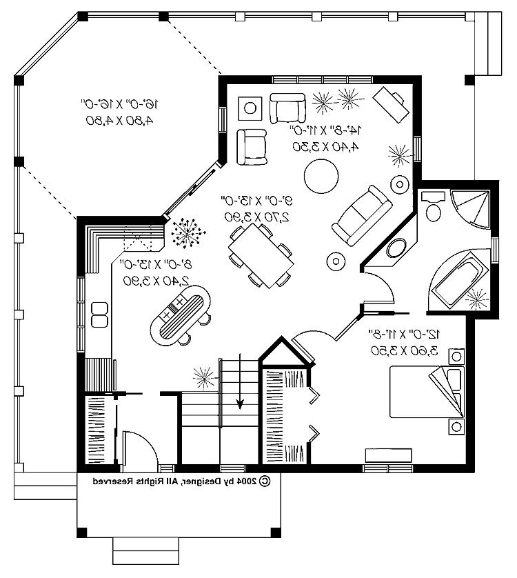 One bedroom house plans with photos for 840 sq ft house plans