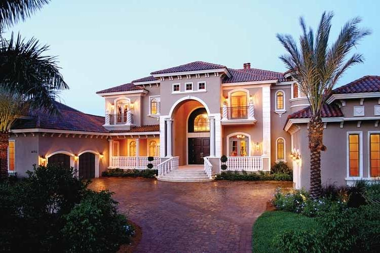 Luxury mediterranean house plans with photos for Dream house source