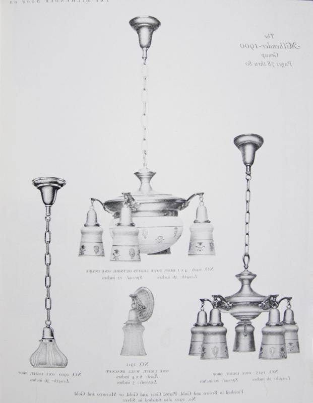 Milhender Electric Light Fixtures, Circa 1915