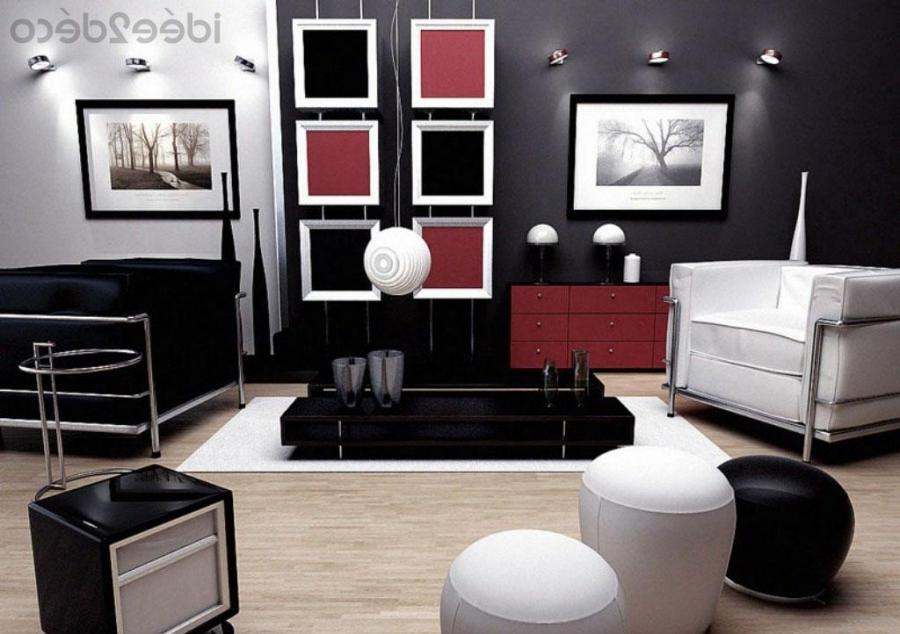 Photos decoration petit salon - Deco salon rouge et noir ...