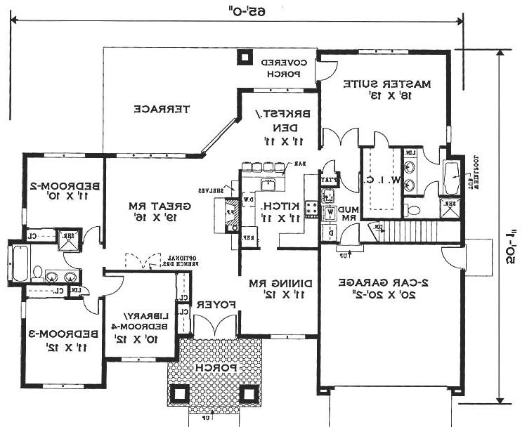 Floor plan image of Elegant one story home House Plan