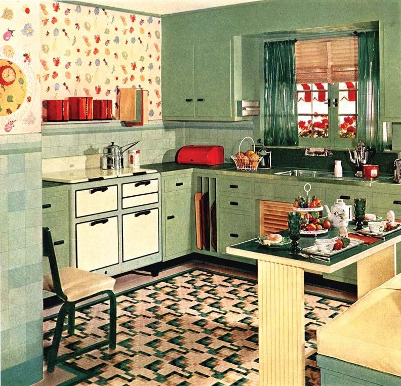 1930 furniture style photos for 1930s style kitchen design