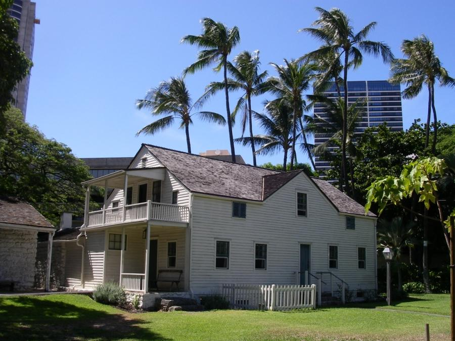 One of the houses in the mission houses museum, Honolulu.
