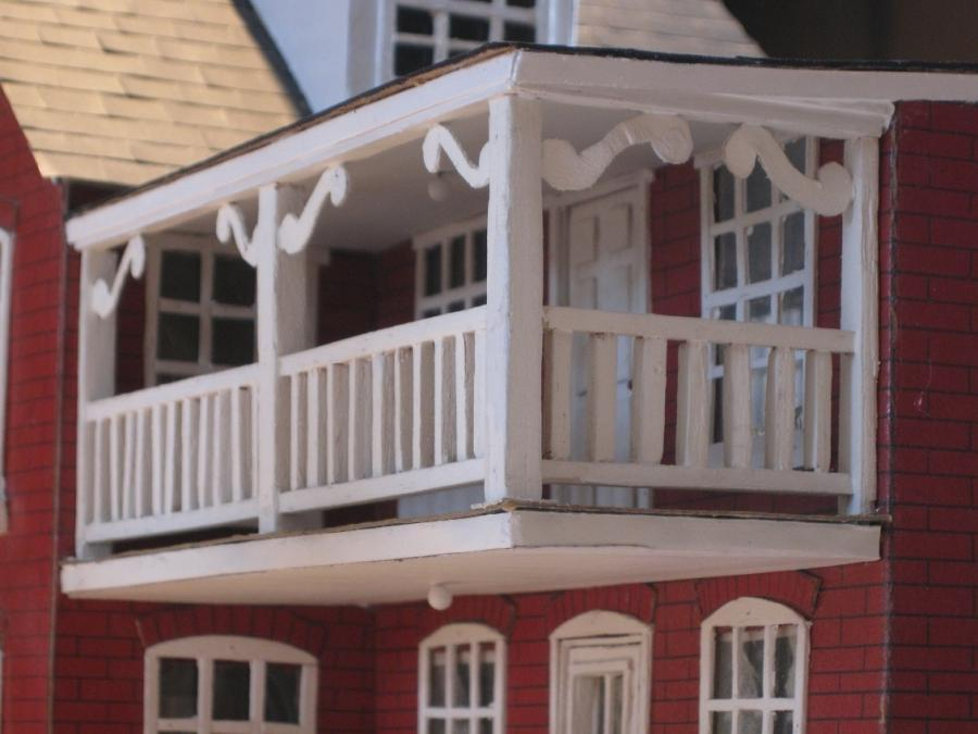 Second floor balcony detail shots. Design is in typical urban...