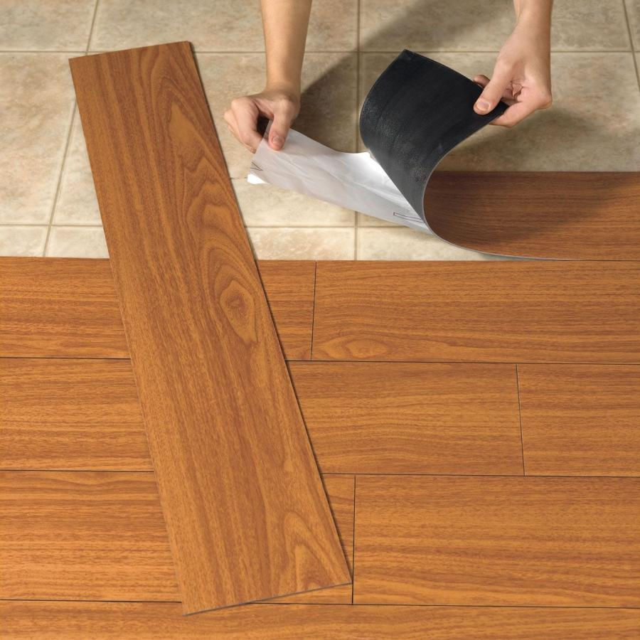 Colorful vinyl floor tiles