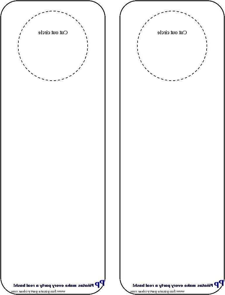 door hangers photo. Black Bedroom Furniture Sets. Home Design Ideas
