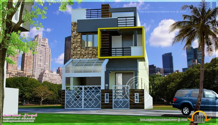 South Indian Style Contemporary House 1508 Sq Ft Exterior Design