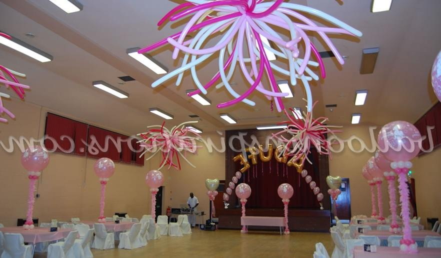 PINK AND WHITE CHRISTENING DECORATIONS: