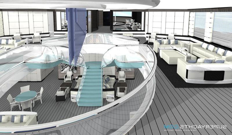 mega yacht interior photos