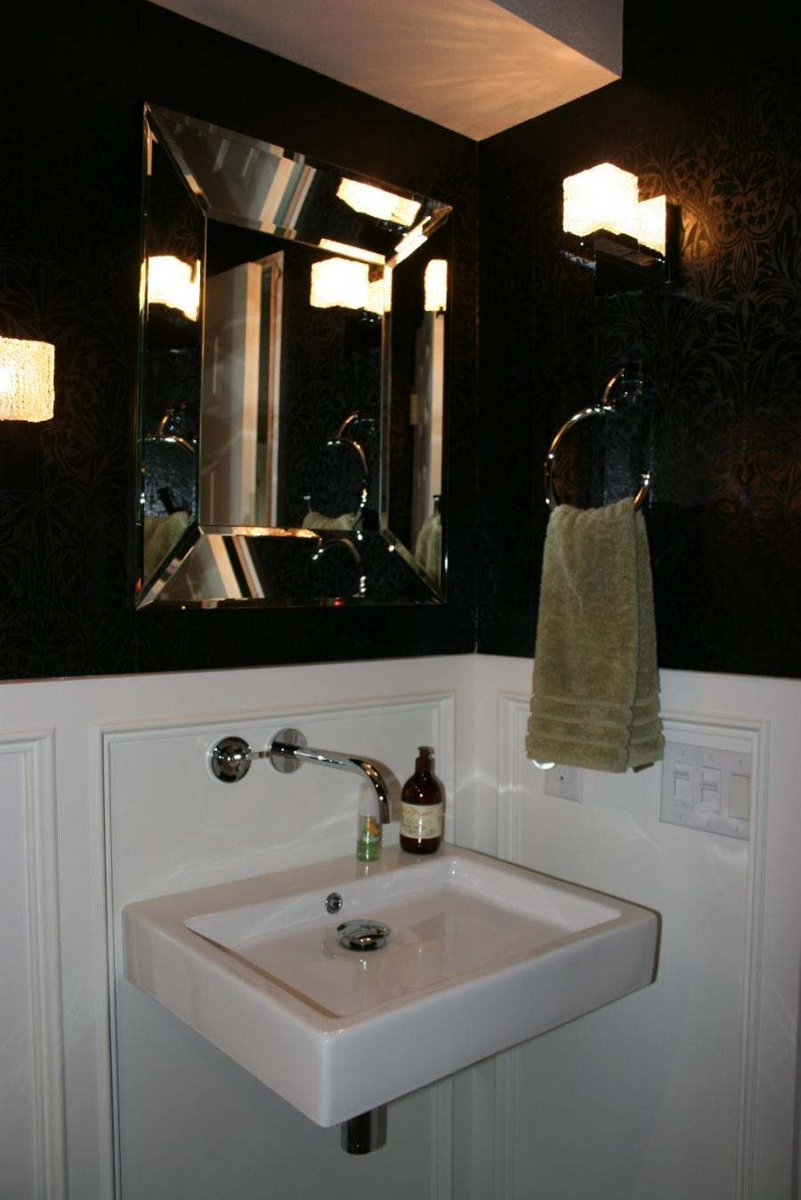 Black And White Powder Room Photos