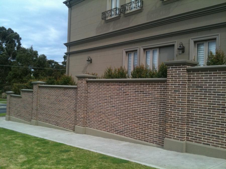 Brick wall fence photos